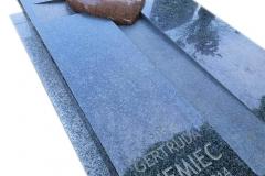 204 Nagrobek granitowy pojedynczy w formie sarkofagu z sercem, Tychy