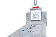 208 Pomnik upamietniajacy, pojedynczy granitowy, sfinansowany ze srodkow IPN, Kozy woj.slaskie