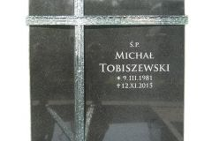015 Tablica granitowa ze szklem - nagrobki pojedyncze, Swietochlowice