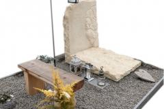 52 Nagrobek urnowy z piaskowca wraz z plaskorzezba drzewa, Chruszczobrod, woj.slaskie