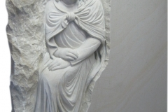093 Tablica nagrobna z piaskowca z plaskorzezba Jezusa - nagrobki z piaskowca