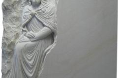 094 Tablica nagrobna z piaskowca z plaskorzezba Jezusa - nagrobki z piaskowca