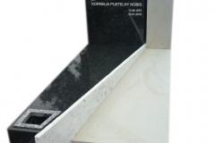 113 Nagrobek bialo-czarny z piaskowca i granitu, Zabrze