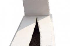 193 Nagrobek pojedynczy rzezbiony z piaskowca z rabata, Bystra, woj.slaskie