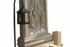 007 Rzezba Maryji z piaskowca - pomniki z rzezba, Sosnowiec
