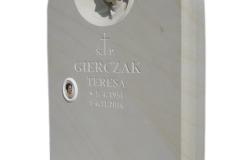009 Tablica nagrobna z piaskowca z Maryja - nagrobki z rzezba, Sosnowiec