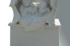 015 Pomnik dla dziecka - rzezba dziewczynki wykonana z piaskowca, Lodz