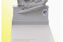 028 Pomnik dzieciecy z rzezba aniolka, Krakow