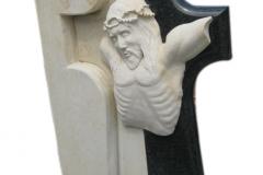 033 Tablica nagrobna z Jezusem - nagrobki z rzezba, Pszczyna, rzezbiarz Janusz Moroń