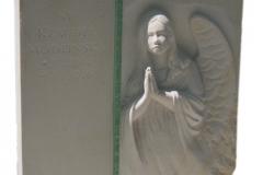 041 Tablica nagrobna z piaskowca - rzezba w kamieniu