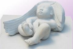 045 Rzezba dla dziecka z kamienia - nagrobki z rzezba, rzezbiarz Janusz Moroń