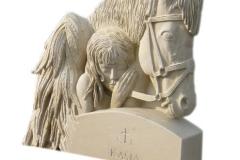 050 Rzezba z piaskowca - dziewczyna z koniem, Ruda Slaska