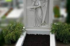 052 Pomnik z plaskorzezba aniola - pomnik z rzezba