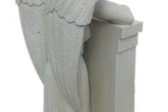 096 Tablica nagrobna z rzezba aniola, Rybnik