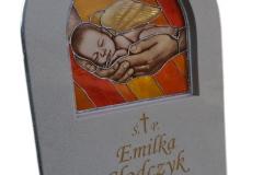 04 tablica nagrobna z witrazem, Bytom