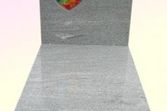 53 Nagrobek granitowy z kolorowym witrazem, Frydek k.Pszczyny