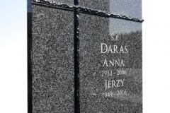 044 tablica nagrobna z granitu ze szklem, Piotrkow Trybunalskich