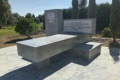 35 Pomnik, liternictwo, godlo po renowacji, Studzionka