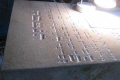 50 Renowacja liternictwa na tablicy nagrobnej, Pszczyna
