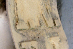 Tabliczka w trakcie renowacji