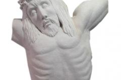 064-popiersie-jezusa-rzezba-z-piaskowca, rzezbiarz Janusz Moroń