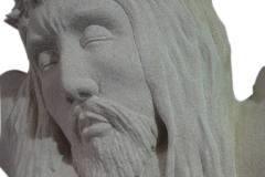 065-popiersie-jezusa-rzezba-z-piaskowca, rzezbiarz Janusz Moroń