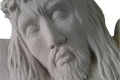 066-popiersie-jezusa-rzezba-kamienna, rzezbiarz Janusz Moroń