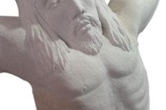 067-popiersie-jezusa-rzezba-w-kamieniu, rzezbiarz Janusz Moroń