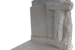 116 Rzezba z piaskowca wykonana w tablicy nagrobnej- ksiega z krzyzem, Sosnowiec